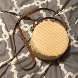 Forever 21 Straw Circle Crossbody